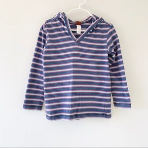 Tea Collection Striped Happy Hoodie size 5